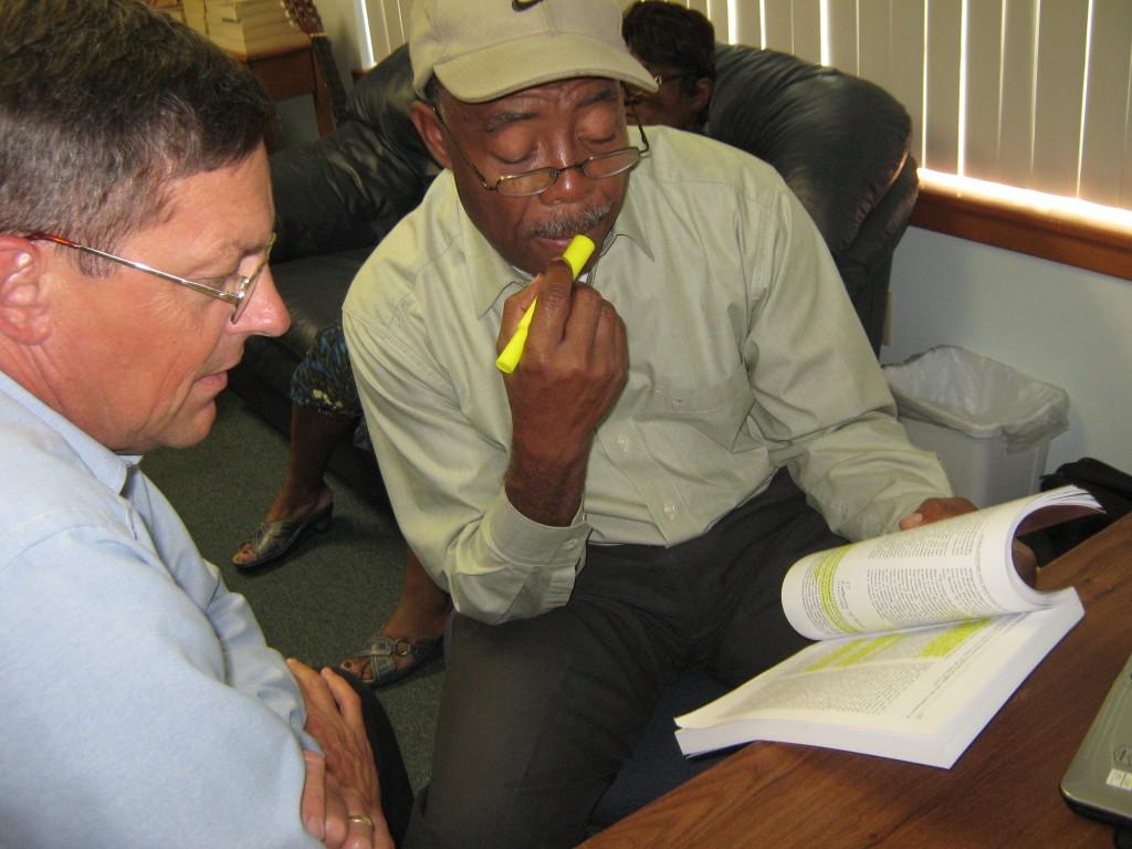 Pastor Hess mentoring Pastor Mezilus