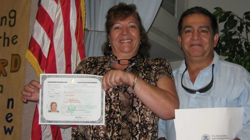 Olga Receives Citizenship