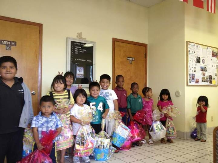 Kids with their baskets