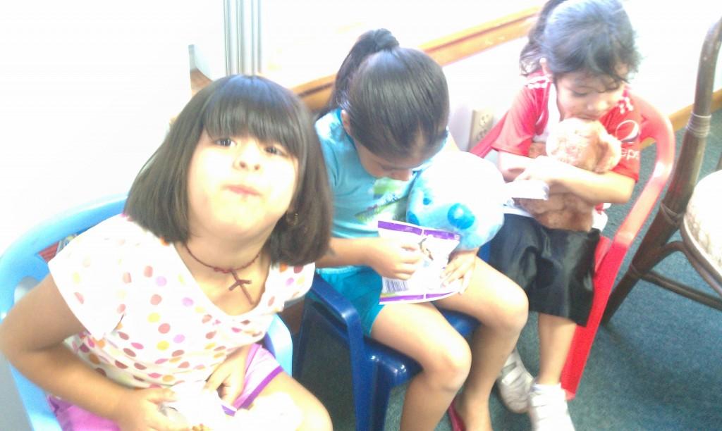 Girls with Stuffed Animal
