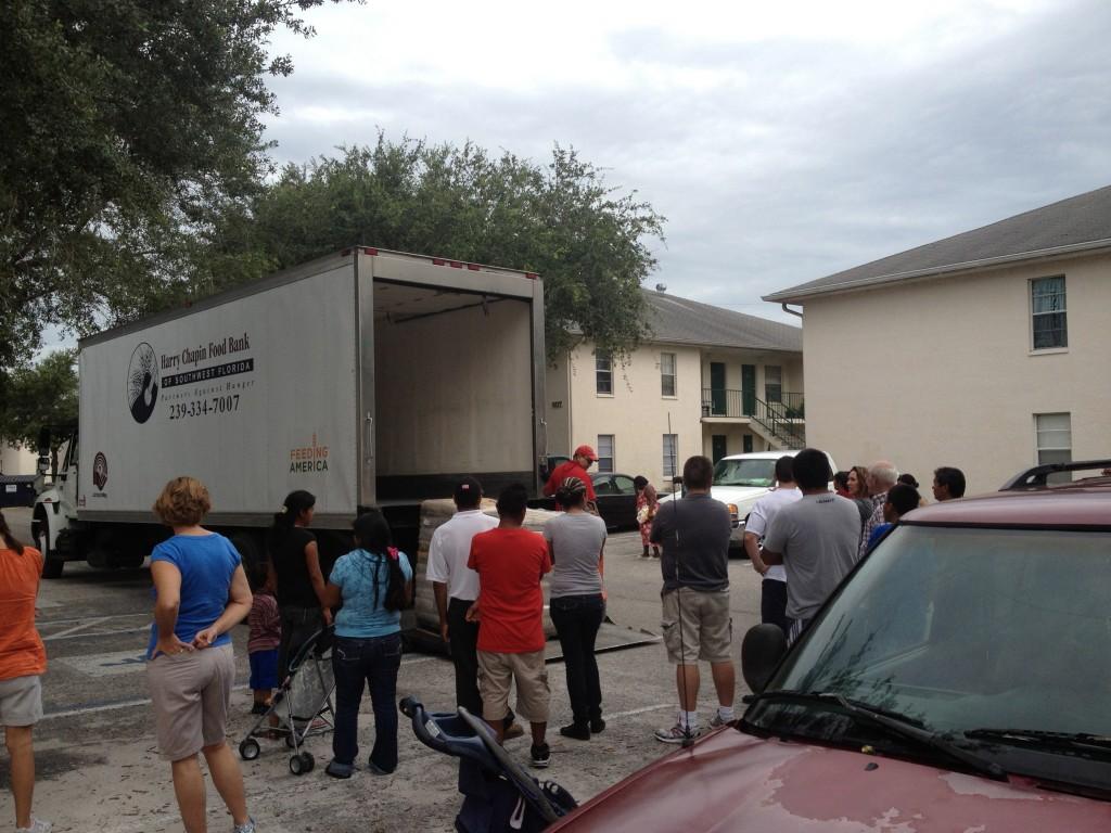 truck delivering maseca