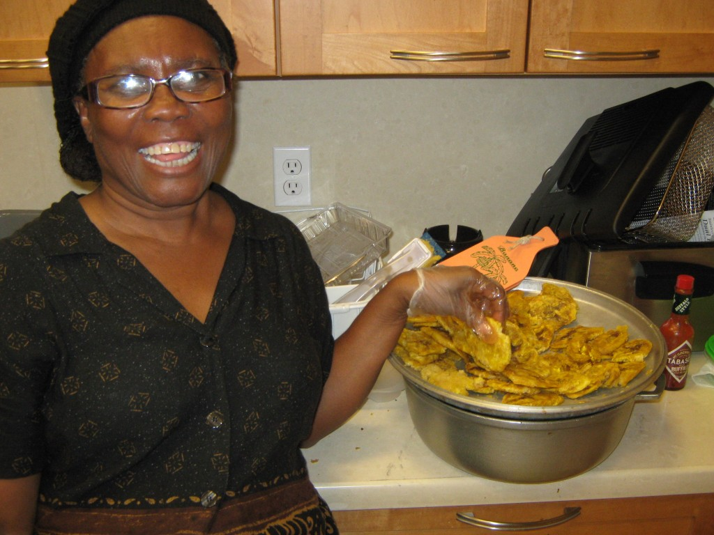 Haitian Woman Cooking Food