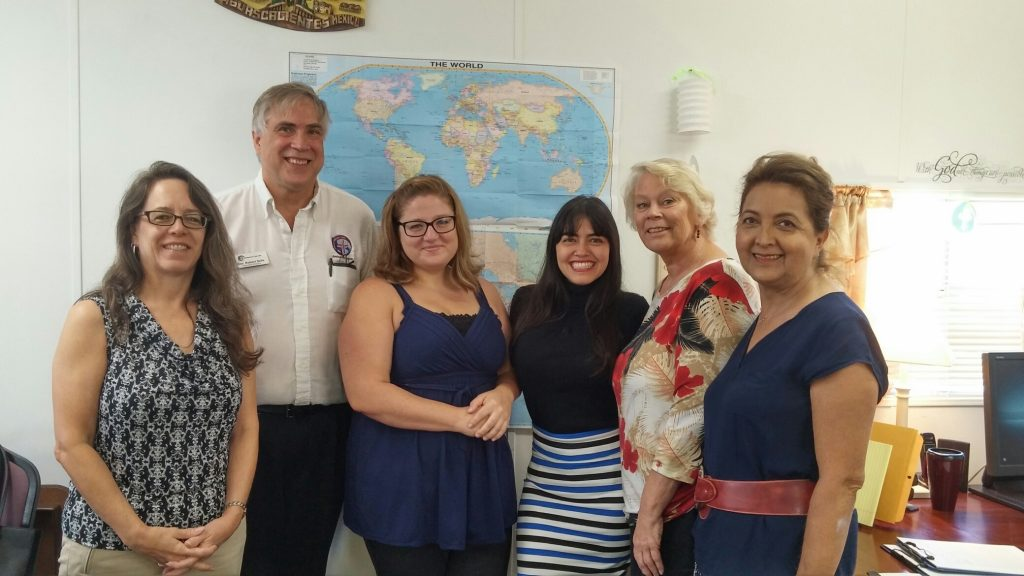 Christina Leddin (Immigration Specialist), Rev. Selle (CEO), Lindsay Ray (Immigration Attorney), Eileen Ortegon (Immigration Assistant), Donna Selle (Bookkeeper), Maria Isabel Diaz (Immigration Assistant)