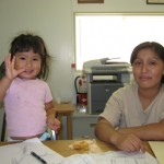 Mom and Daughter getting help at Amigos Center